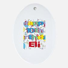 Eli's 10th Birthday Oval Ornament