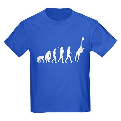 Evolution of Tennis Kids Dark T-Shirt