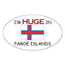 I'd HUGE In FAROE ISLANDS Oval Decal