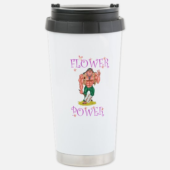 FLOWER POWER Stainless Steel Travel Mug