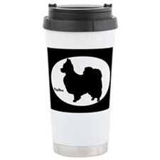 Papillon Silhouette Travel Mug