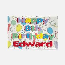 Edward's 8th Birthday Rectangle Magnet