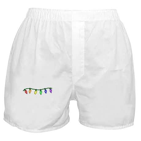Rainbow Christmas Lights Boxer Shorts
