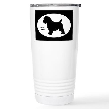 Norfolk Terrier Silhouette Stainless Steel Travel