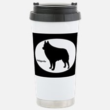 Schipperke Silhouette Travel Mug