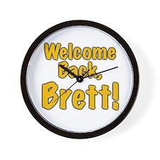 Welcome Back Brett Wall Clock