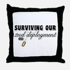 Surviving 2nd Deployment Throw Pillow