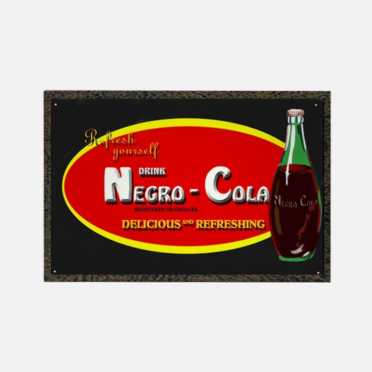 negro cola Rectangle Magnet