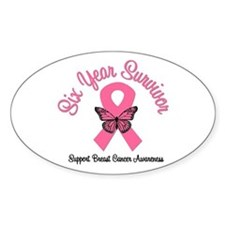 Breast Cancer (6 Yrs) Oval Decal