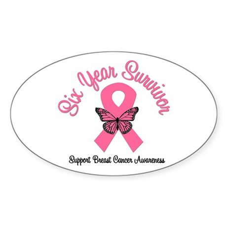 Breast Cancer (6 Yrs) Oval Sticker