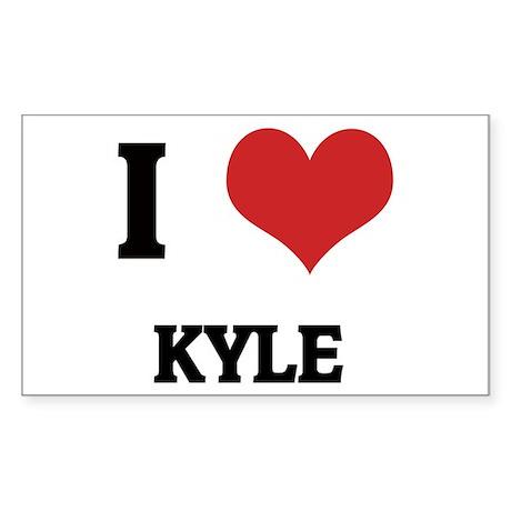 I Love Kyle Rectangle Sticker