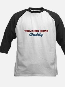 Welcome Home Daddy Kids Baseball Jersey