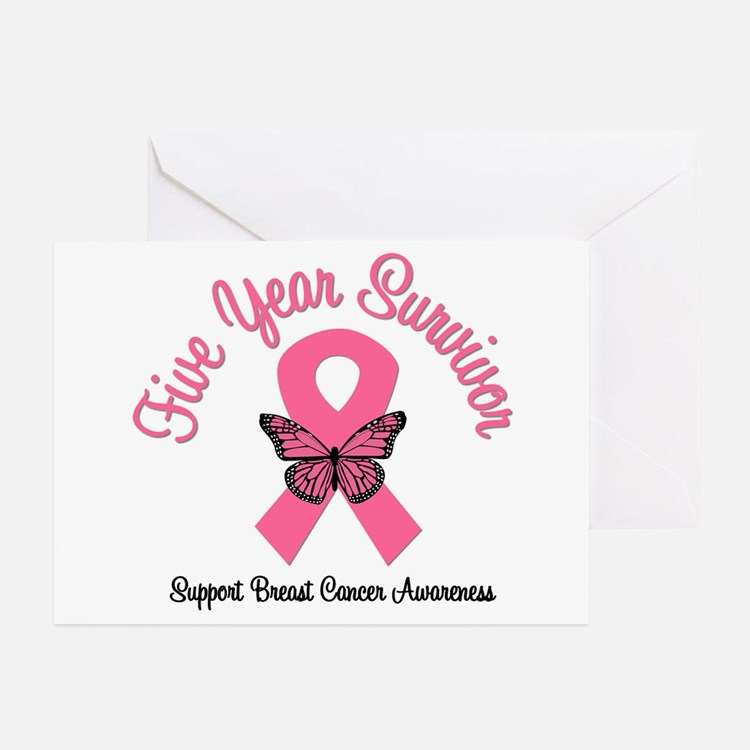 Breast Cancer (5 Yrs) Greeting Cards (Pk of 10)