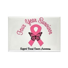 Breast Cancer (4 Yrs) Rectangle Magnet (10 pack)
