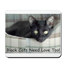 Love Black Cats Mousepad