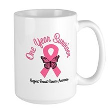 Breast Cancer (1 Year) Mug