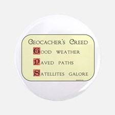 "Geocacher's Creed 3.5"" Button"