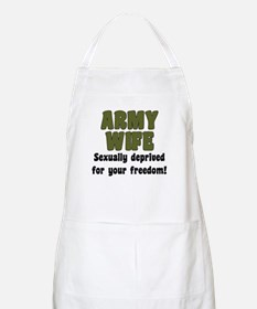 Army Wife - deprived BBQ Apron