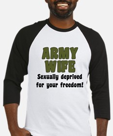 Army Wife - deprived Baseball Jersey