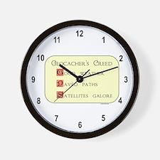 Geocacher's Creed Wall Clock