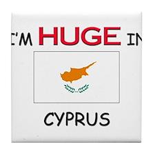I'd HUGE In CYPRUS Tile Coaster