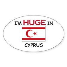 I'd HUGE In CYPRUS Oval Decal