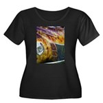 On Fire Women's Plus Size Scoop Neck Dark T-Shirt