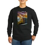 On Fire Long Sleeve Dark T-Shirt