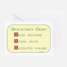 Geocacher's Creed Greeting Card