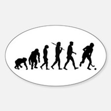 Evolution Field Hockey Sticker (Oval)