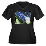 FenderScape Women's Plus Size V-Neck Dark T-Shirt