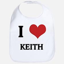 I Love Keith Bib
