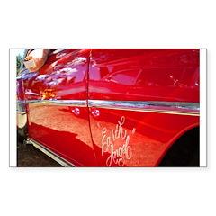 Earth Angel Rectangle Sticker 50 pk)