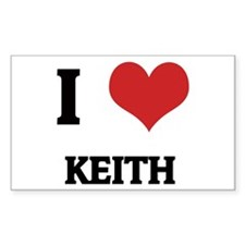 I Love Keith Rectangle Decal