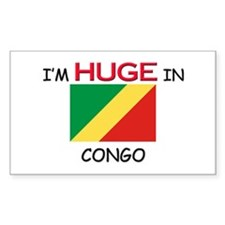 I'd HUGE In CONGO Rectangle Decal