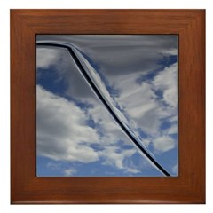 Blue Skies Framed Tile
