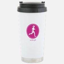 Run Like A Girl - Circle Travel Mug