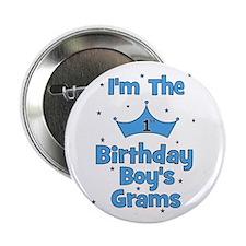 "1st Birthday Boy's Grams! 2.25"" Button"