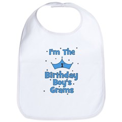1st Birthday Boy's Grams! Bib