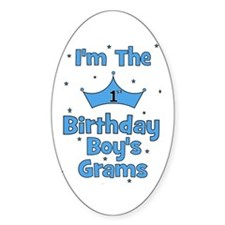 1st Birthday Boy's Grams! Oval Decal