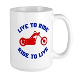 Live to Ride 3 Large Mug