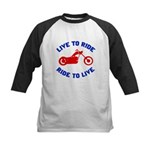 Live to Ride 3 Kids Baseball Jersey