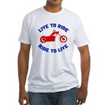 Live to Ride 3 Fitted T-Shirt