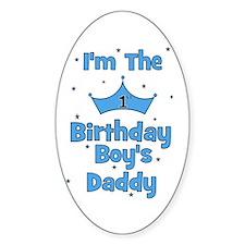 1st Birthday Boy's Daddy! Oval Decal