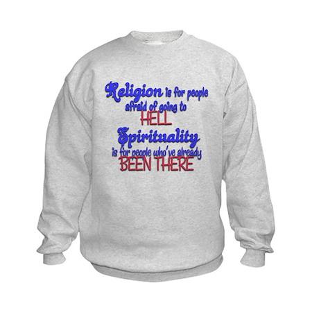 Religion VS spirituality Kids Sweatshirt