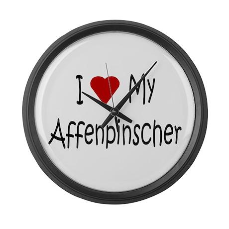 I Love My Affenpinscher Large Wall Clock