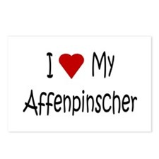 I Love My Affenpinscher Postcards (Package of 8)