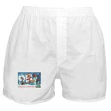 holiday wishes Boxer Shorts