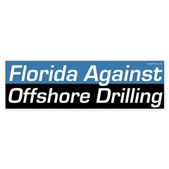 Florida Against Offshore Drilling bumper sticker