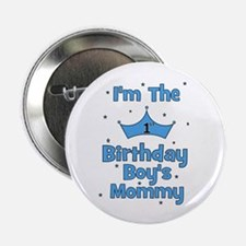 "1st Birthday Boy's Mommy! 2.25"" Button"
